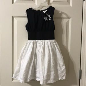 Childrens Place black and white dress size 6x -7